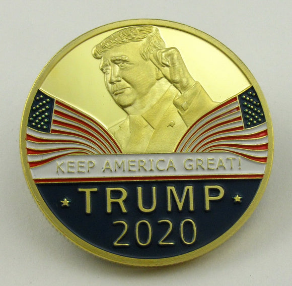 2020 US Reelection President Donald Trump Keep America Great Gold Challenge Coin