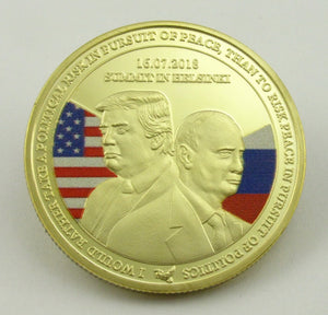 USA Russia President Trump & Putin Summit in Helsinki Gold Challenge Coin