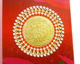 2019 Year of the Pig Lunar Zodiac Auspicious Coin & Happy New Year Greeting Card