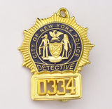 NYPD Badge 0334 Front