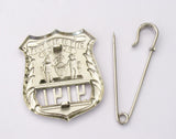 NY New York Police Badge Replica Movie Props *Customizable Badge Number*