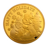 Santa Claus Snowman Merry Christmas Xmas Holiday New Year Gift Coins