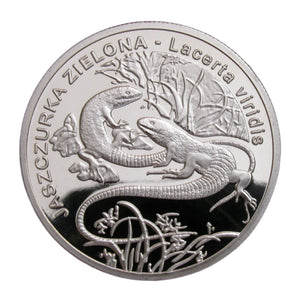 Poland Lizard Silver Commemorative Coin