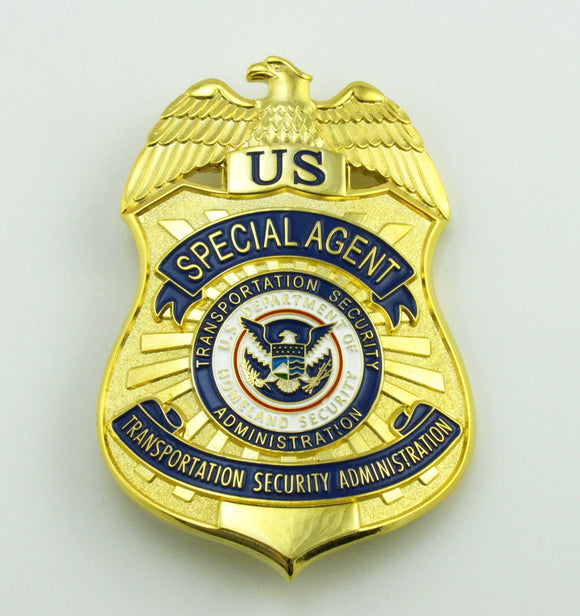 US TSA Special Agent Badge Solid Copper Replica Movie Props