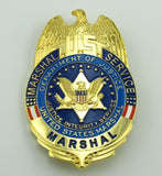 US Marshal Serviece Eagle Badge Solid Copper Brooch Pin Replica Movie Props