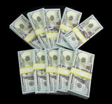10 Stacks of $100 Dollars Full Print Prop Money New Style Play Money Banknotes