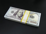 100 Pieces of $100 Dollar Full Print Prop Money New Style Play Money Banknotes Stack