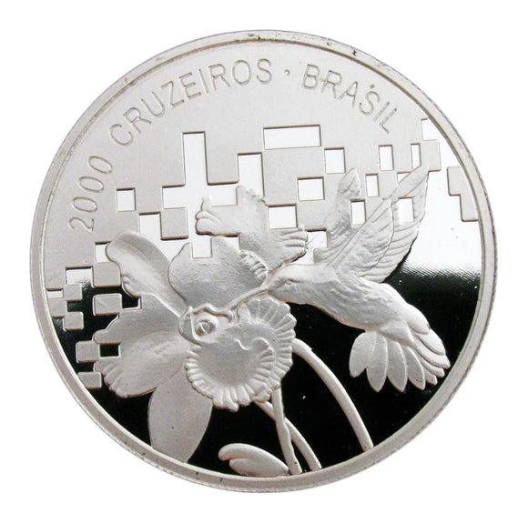 Brazil Hummingbird Silver Commemorative Coin