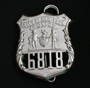 NY New York Police Detective Badge/Cap Badge Replica Movie Props No. 6818