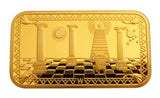 Masonic Freemasonry Freemason Symbol 24K Gold Plated Challenge Bar/Coin