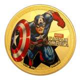 4 Pieces Marvel Comics Superhero The Avengers 24K Gold Plated Coins