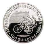 1992 Barcelona Olympic Games Road Cycling Race Silver Commemorative Coin