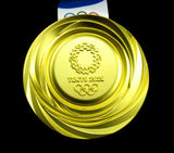 Tokyo 2020 Olympic Gold Medal With Ribbon 1:1 Full Size Replica *Highest Quality*