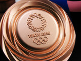 Tokyo 2020 Olympic Medals Gold Silver Bronze With Ribbons 1:1 Full Size Replica