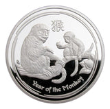 2016 Australia Lunar Zodiac Year Of the Monkey Silver Coin
