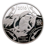 2016 Year Of the Monkey Australia Lunar Zodiac Silver Coin Collectable