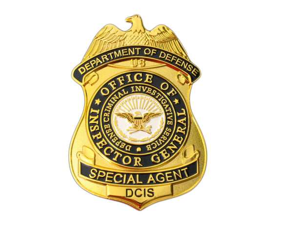 US DCIS Office of Inspector General Special Agent Badge Replica Movie Props