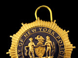 NY New York Police LIEUTENANT Badge Replica Cosplay Movie Props