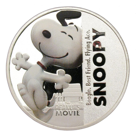 Snoopy Peanuts Movie Comics Colored Silver Commemorative Coin