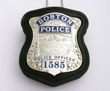 Holder/ Holster/ Wallet For Boston Police Badges First-layer Genuine Leather