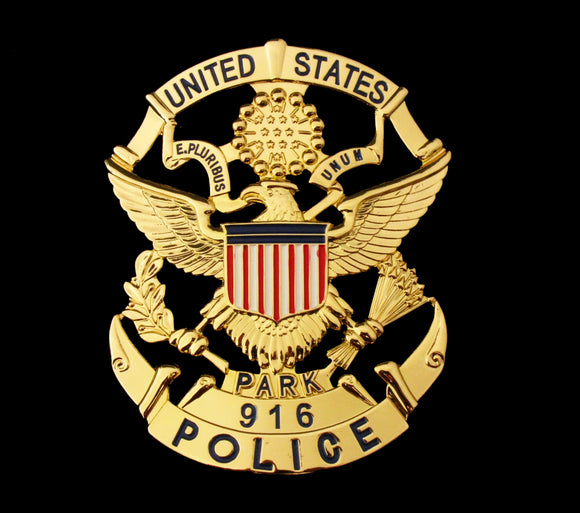 USPP US Park Police Badge Solid Copper Replica Movie Props With Number 916