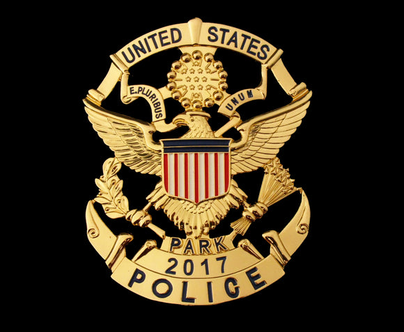 USPP United States Park Police Badge Solid Copper Replica Movie Props With Number 2017