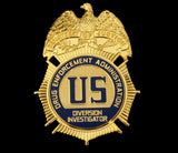 US DEA Diversion Investigator Badge Solid Copper Replica Movie Props