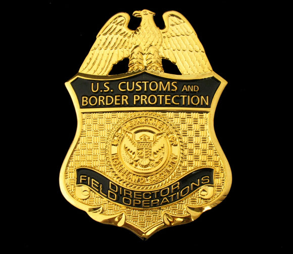 US CBP Director Field Operations Badge Solid Copper Replica Movie Props