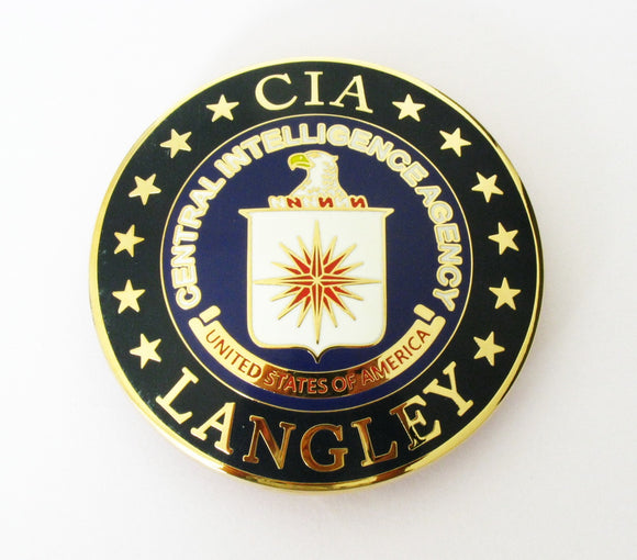 US Langley CIA Badge Solid Copper Replica Movie Props