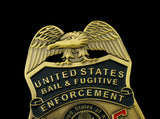 US Bail Enforcement & Fugitive Recovery Agent Badge Solid Copper Replica Movie Props