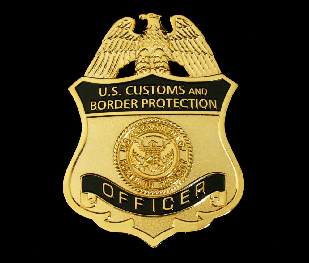us cbp officer customs and border protection badge solid