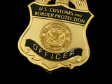 US CBP Customs and Border Protection Officer Badge Solid Copper Replica Movie Props