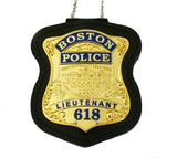 Boston Police Lieutenant Badge Solid Copper Replica Movie Props With Number 618