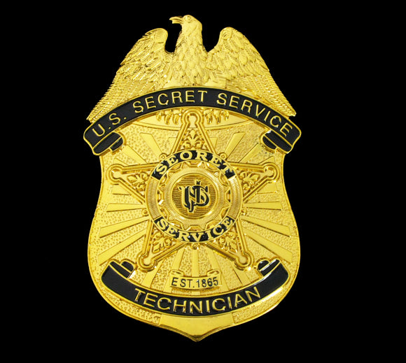 USSS U.S Secret Service Technician Badge Solid Copper Replica Movie Props