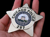 Chicago Detective Police Badge Solid Copper Replica Movie Props With Number 287
