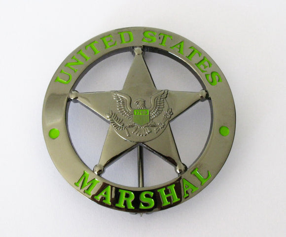 USMS Federal Court Law Enforcement MARSHAL Badge Replica Movie Props
