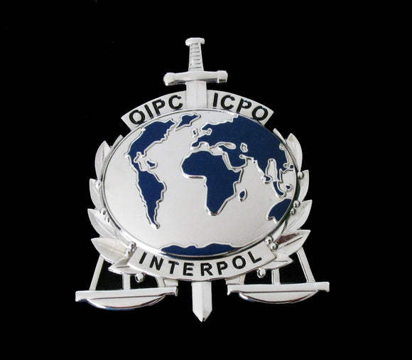 ICPO INTERPOL Counter Terrorism Expert Badge Solid Copper Replica Movie Props