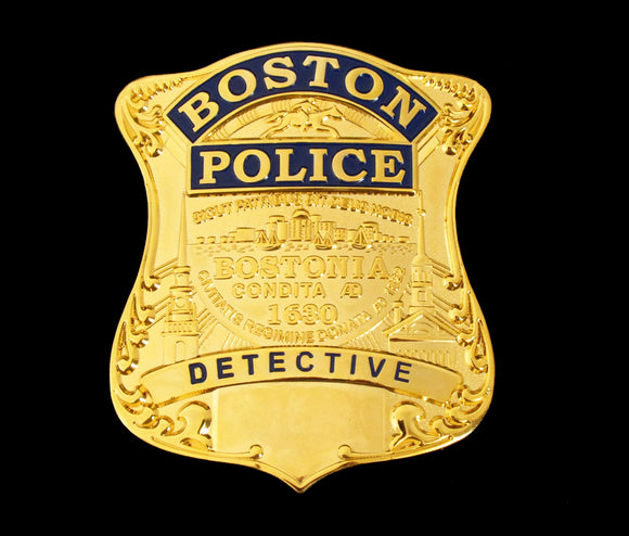 Boston Detective Police Badge Solid Copper Replica Movie Props