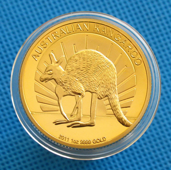 Australian Kangaroo 24K Gold Plated Commemorative Coin 33mm