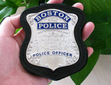 Boston Police Officer Police Badge Solid Copper Replica Movie Props