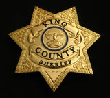 King County Sheriff Magistrate Badge Solid Copper Replica US TV Series The Walking Dead Props