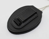 Genuine Leather Oval Holder/ Holster/ Wallet For LAPD Los Angeles Police Badges