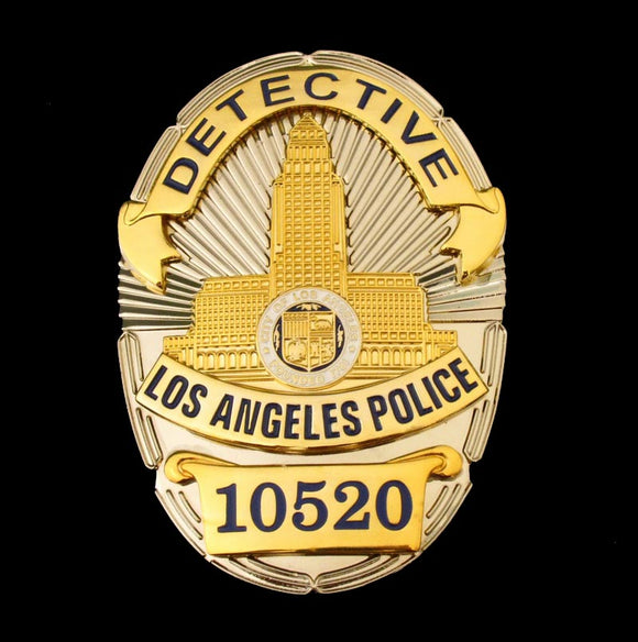 LAPD Los Angeles Detective Police Badge Replica Movie Props No.10520