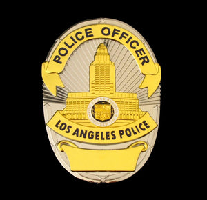 LAPD Los Angeles Police Badge Solid Copper Replica Cosplay Movie Props