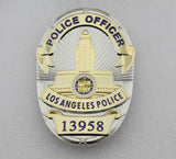LAPD Los Angeles Police Officer Badge Replica Movie Props With Number 13958 16520