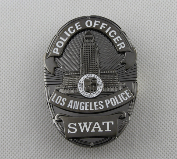 LAPD Los Angeles Police SWAT Badge Solid Copper Replica Movie Props