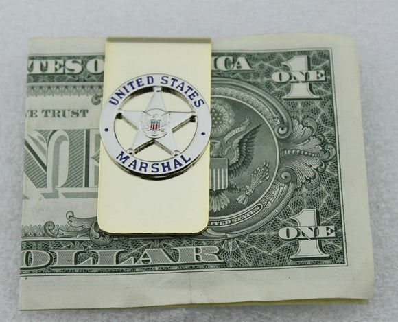 US Marshal Badge Pin Money Clip