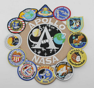 US NASA Apollo Mission Patch Collage 1,7,8,9,10,11,12,13,14,15,16,17 Set