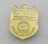 US NCIS Special Agent Badge Solid Copper Brooch Pin Replica Movie Props