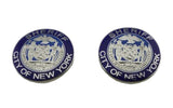 A Pair of NYPD New York City Sheriff Silver Collar Insignia Lapel Pins